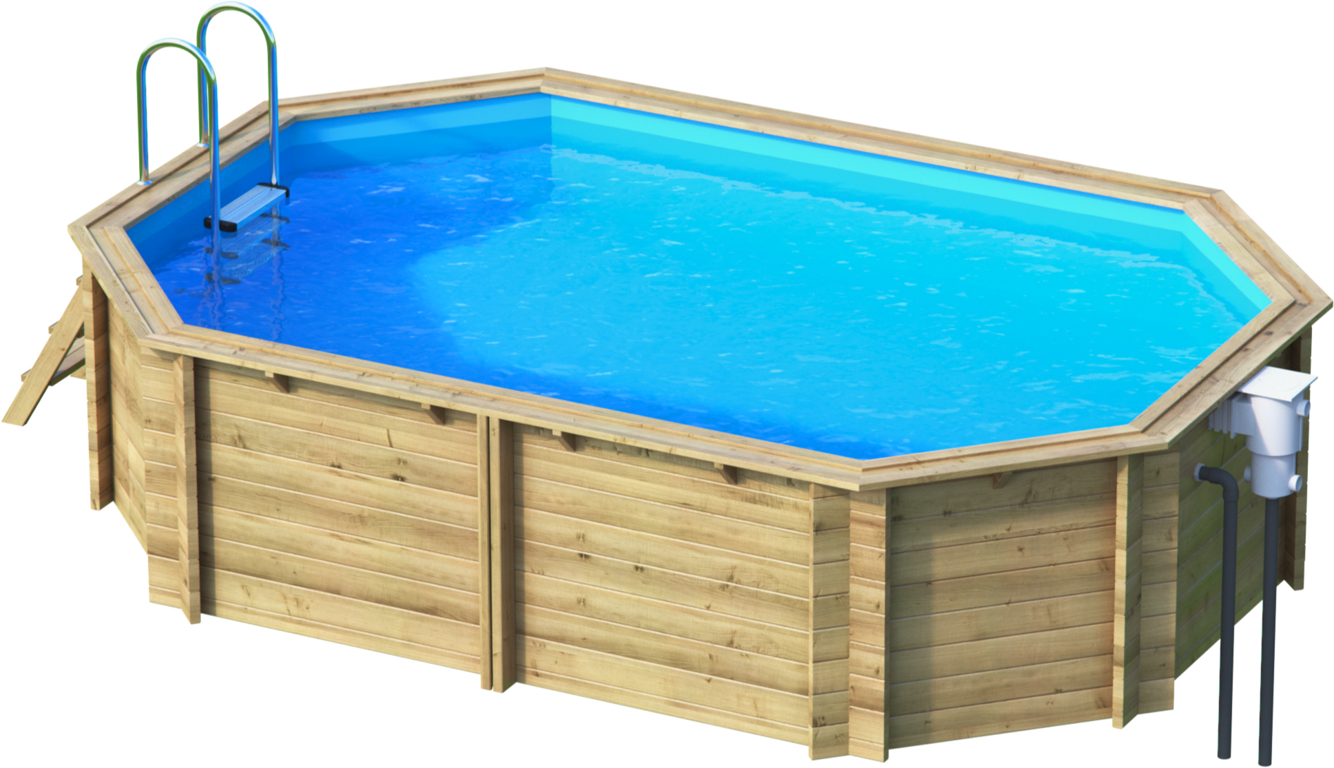 Tropic octo 510 holzpoolset bon pool for Piscine tropic octo 414
