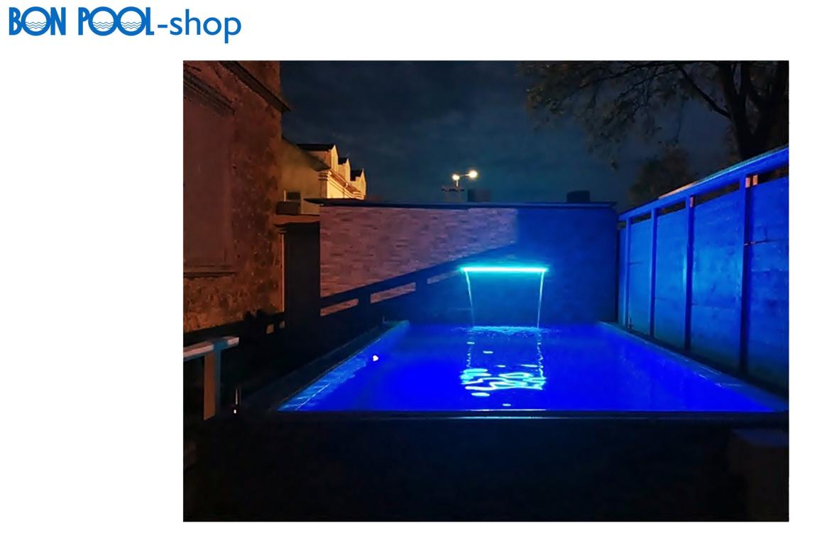 schwalldusche wasserfall led beleuchtung bon pool. Black Bedroom Furniture Sets. Home Design Ideas