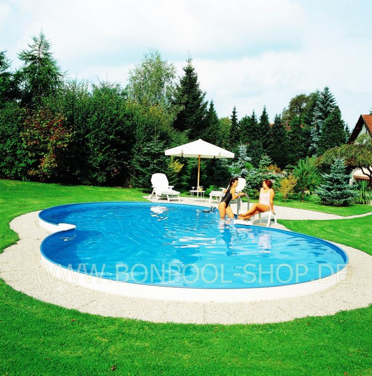 Bon pool poolfolie achtform blau mit bise for Pool ersatzfolie