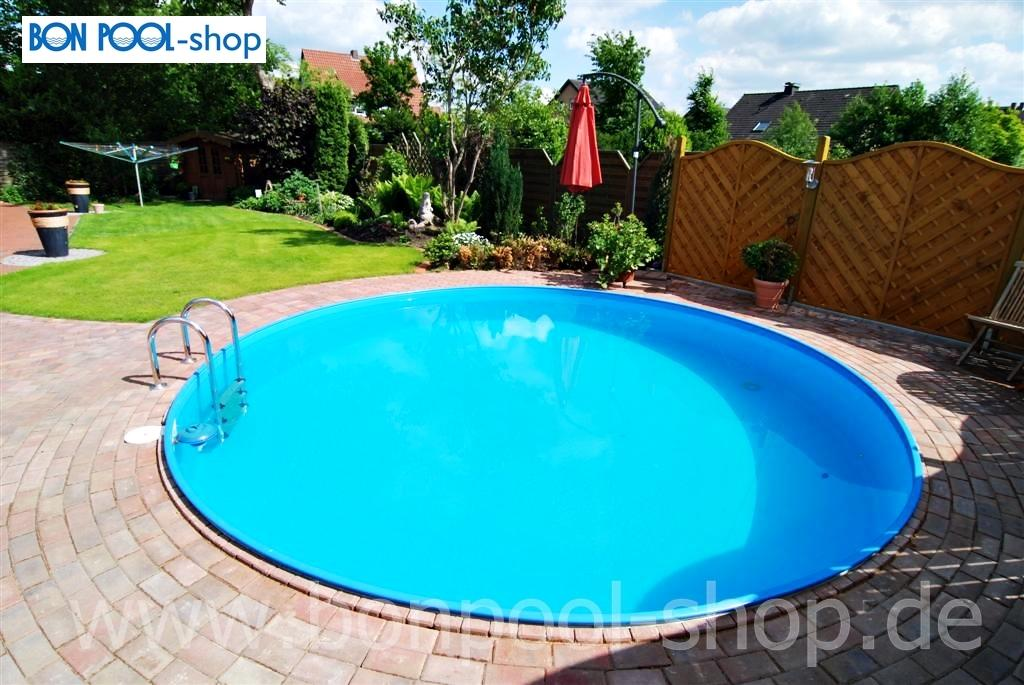 Rundpool komplett set 600 tiefe 150 stahl bon pool for Pool ersatzteile stahlwand