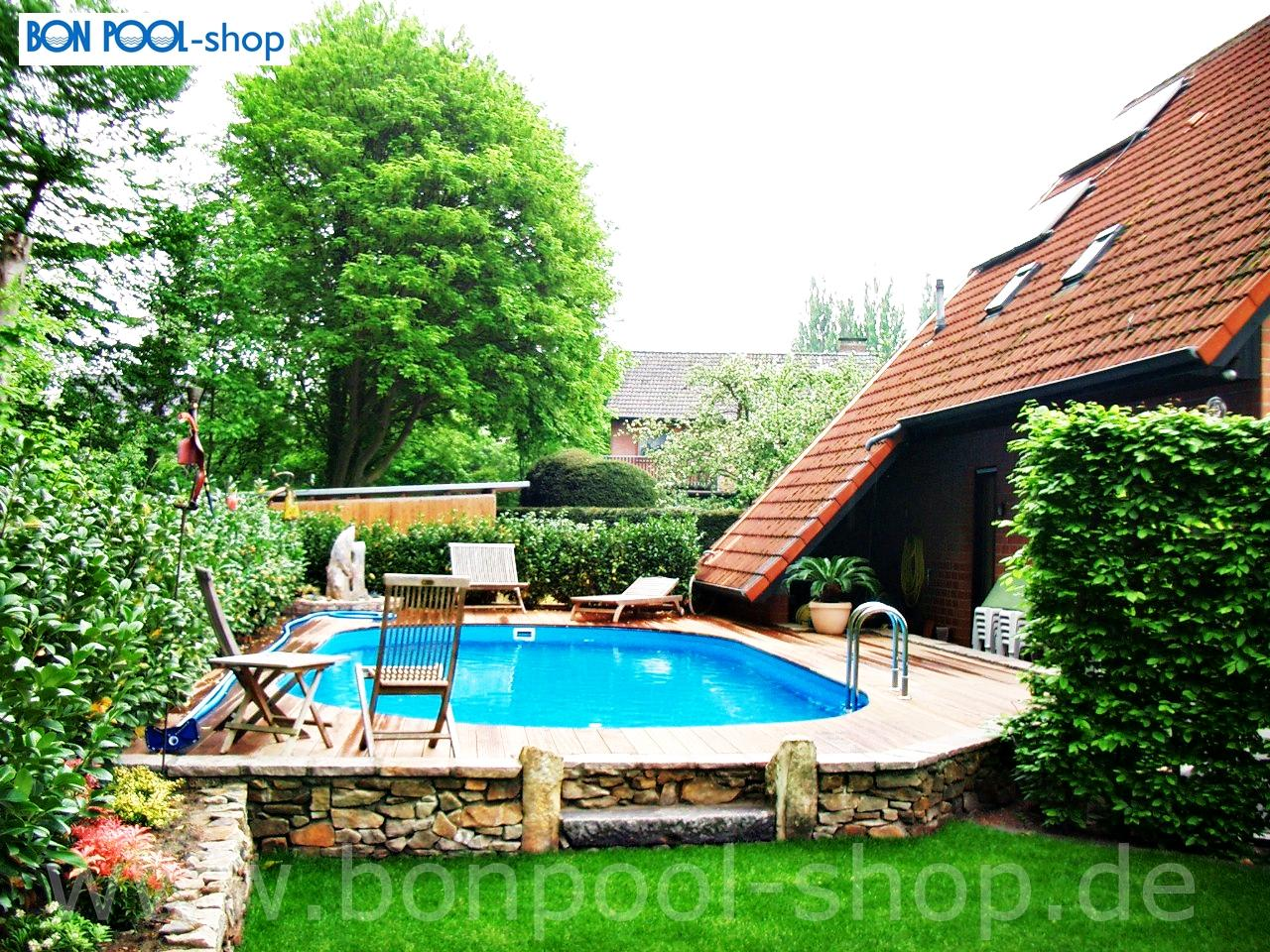 Brandneu Ovalbecken Set 630 x 360, 150 Tief Ovalpool BON POOL BN37