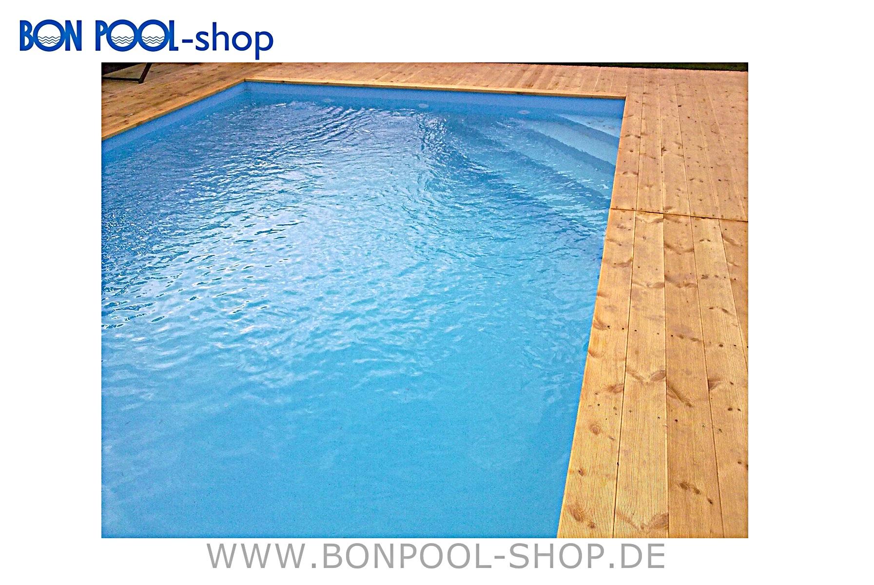 pp kunststoff rechteckbecken set 6x3x1 5m bon pool. Black Bedroom Furniture Sets. Home Design Ideas