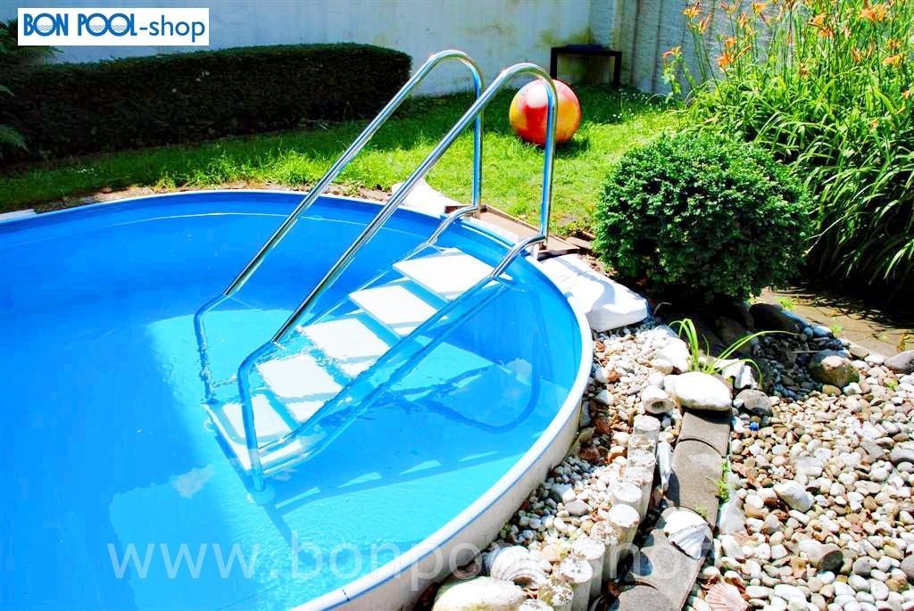 Schwimmbecken ersatzfolie blau rund bise bon pool for Pool rundbecken