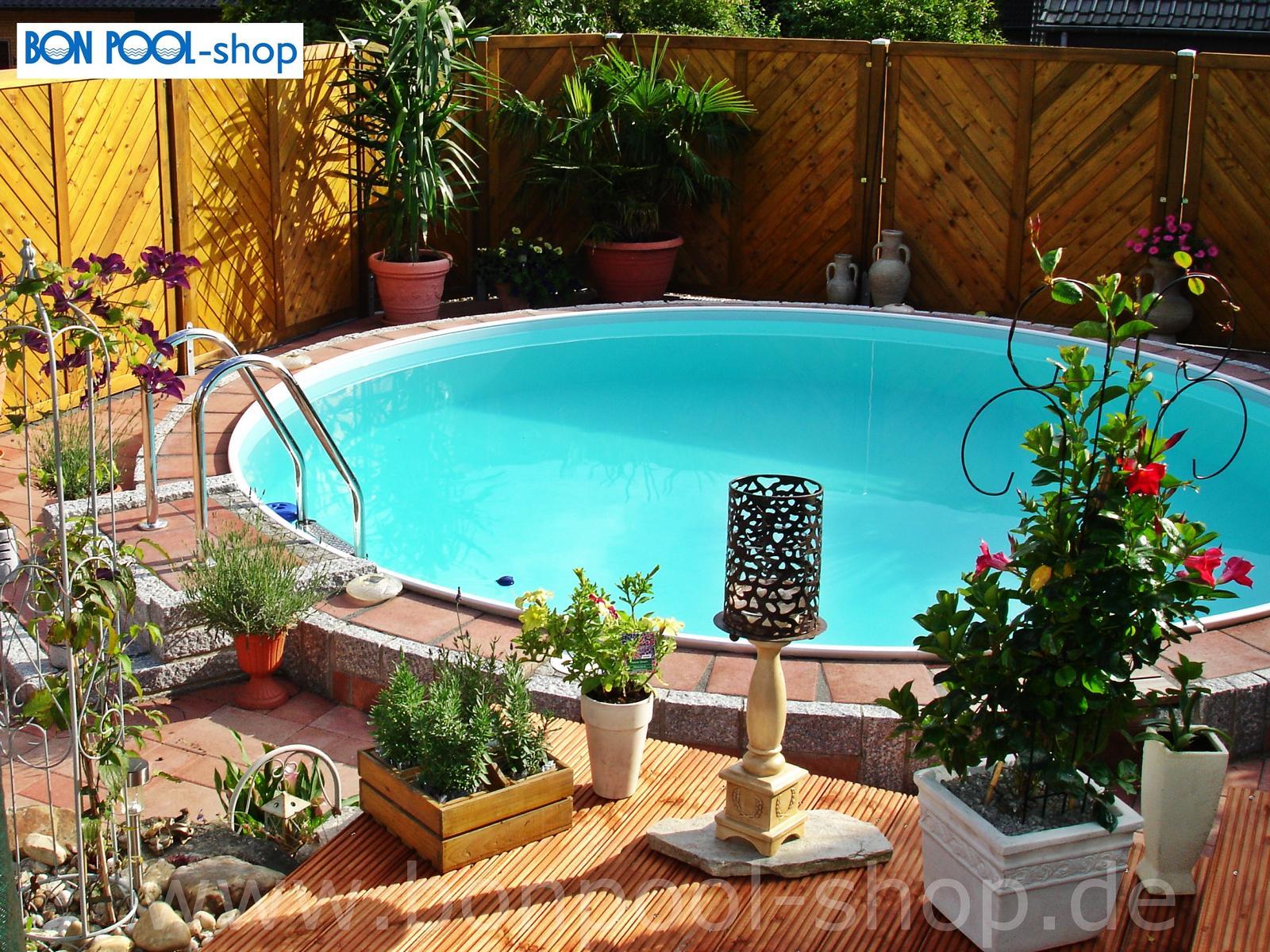 Rundpool stahlwandbecken tiefe 120 400 set bonpool for Pool ersatzteile stahlwand