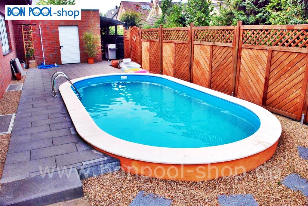 ovalbecken set 630 x 360 tiefe 120 bon pool. Black Bedroom Furniture Sets. Home Design Ideas