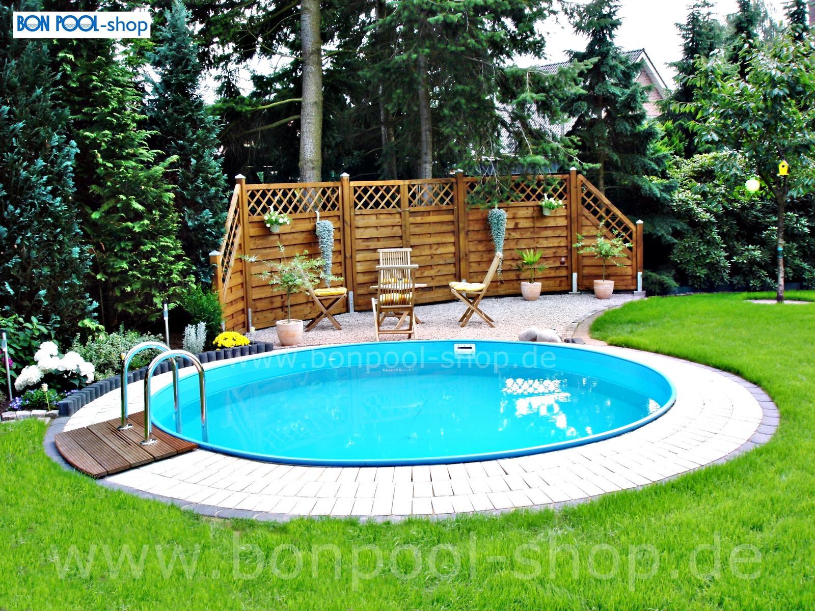 Schwimmbecken ersatzfolie blau rund bise bon pool for Pool aufstellbecken rund