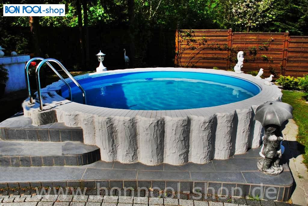 Rundbecken set 4m tiefe 1 20m mit leiter bon pool - Pool flicken ohne flickzeug ...