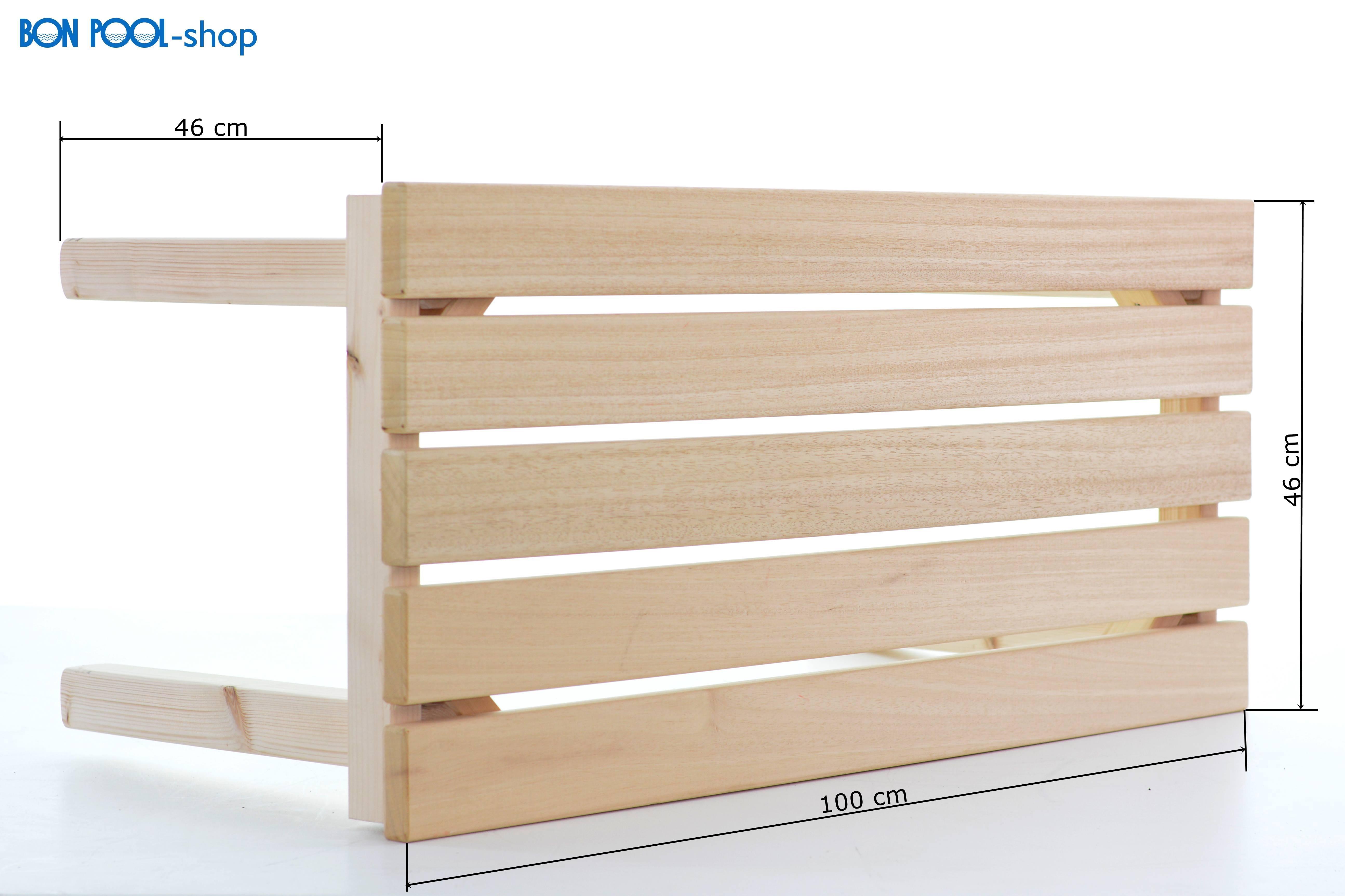saunabank saunahocker abachi bon pool ebay. Black Bedroom Furniture Sets. Home Design Ideas