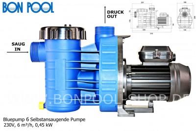 bluepump 6 selbstansaugende pumpe bon pool. Black Bedroom Furniture Sets. Home Design Ideas