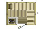 BON POOL  Indigo Sauna-Set