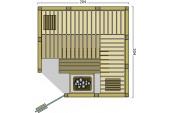 BON POOL  Safir Sauna-Set inkl.Saunaofen und Steuerung