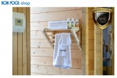 Regal Sauna Handtücher Saunaduft Zubehör Wandregal
