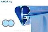 BON POOL Poolfolie  achtform Blau mit Bise