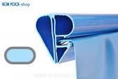 BON POOL Swimmingpool Ersatzfolie oval Blau mit Bise