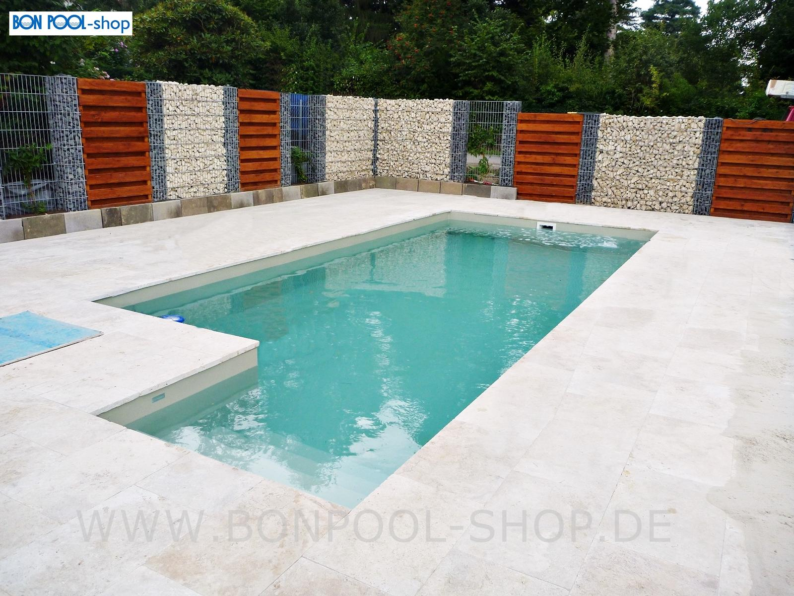 bon pool infinity pool set sand 600x330cm tiefe 150 bon pool schwimmbadbau sauna ir. Black Bedroom Furniture Sets. Home Design Ideas