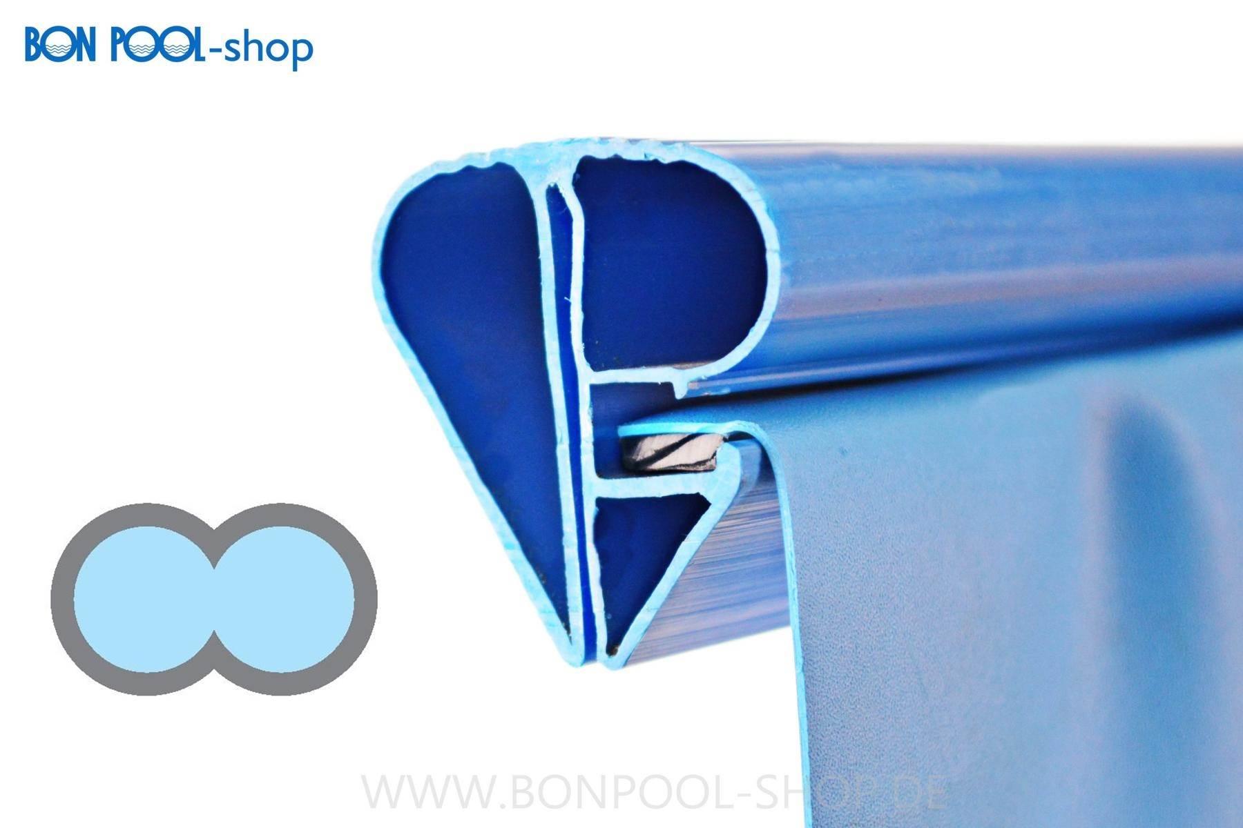 Bon pool poolfolie achtform blau mit bise for Poolfolie blau