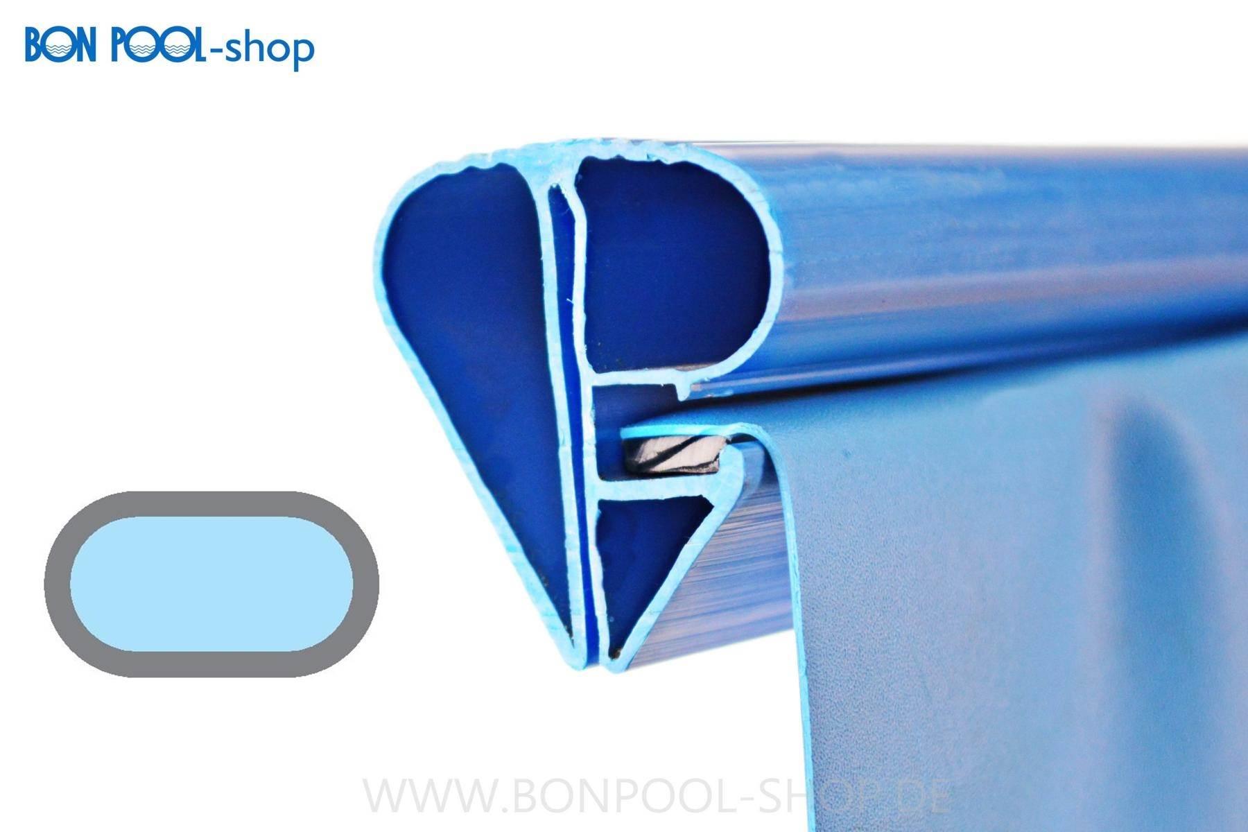Swimmingpool ersatzfolie oval blau mit bise bon pool for Ersatzfolie pool rund