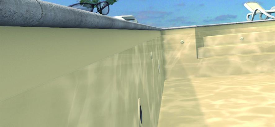 Odyssea holzrechteckbecken 12x4 folie grau bon pool for Folienfarbe pool