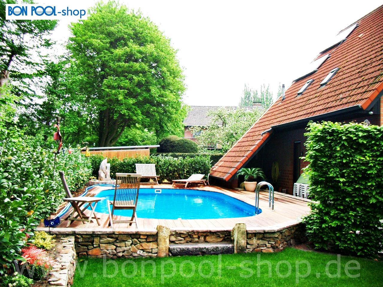 Bon pool ovalbecken konfigurator for Pool aufstellen