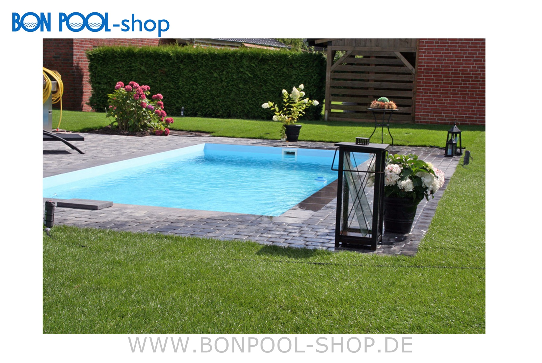 pp kunststoff rechteckbecken 8x4x1 5m bon pool. Black Bedroom Furniture Sets. Home Design Ideas