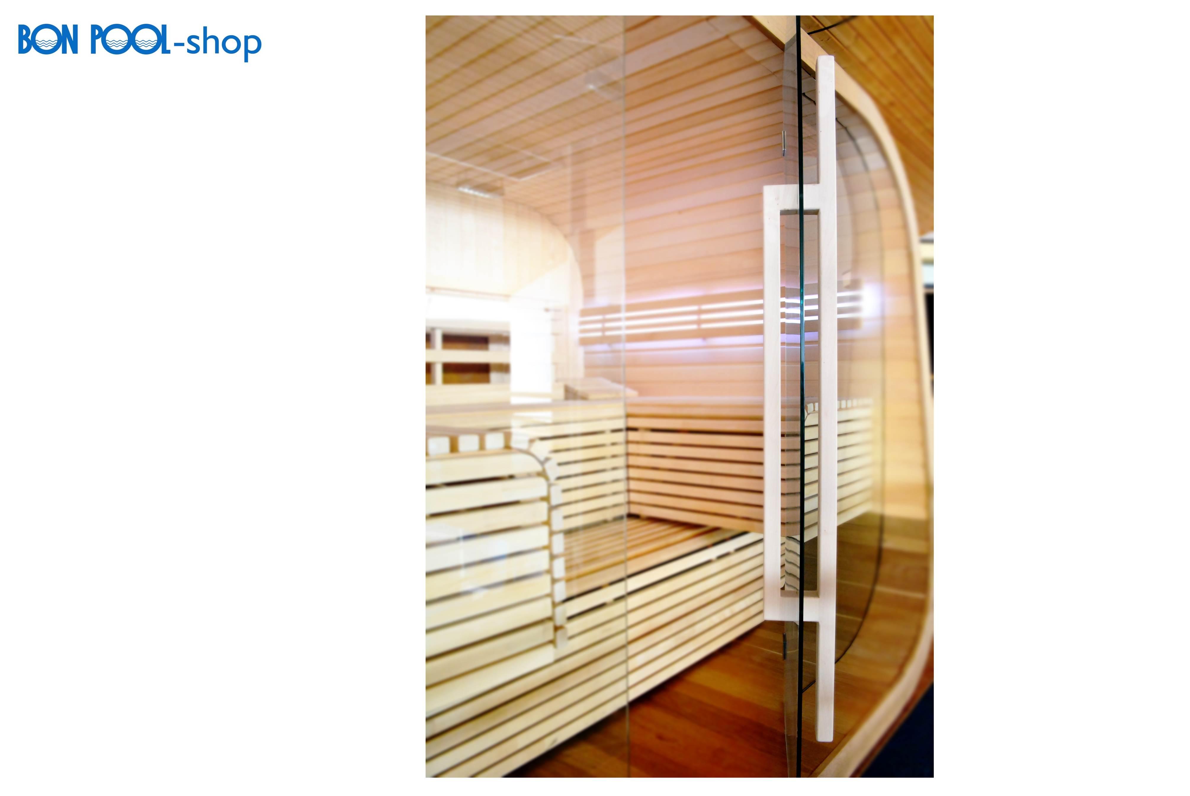 Saunatür Glas set komplett ersatz ahorn bon pool