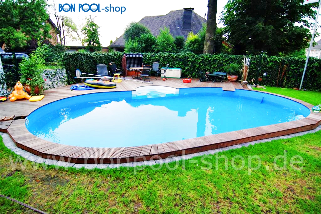 ovalbecken set 800 x 400 tiefe 120 bon pool. Black Bedroom Furniture Sets. Home Design Ideas