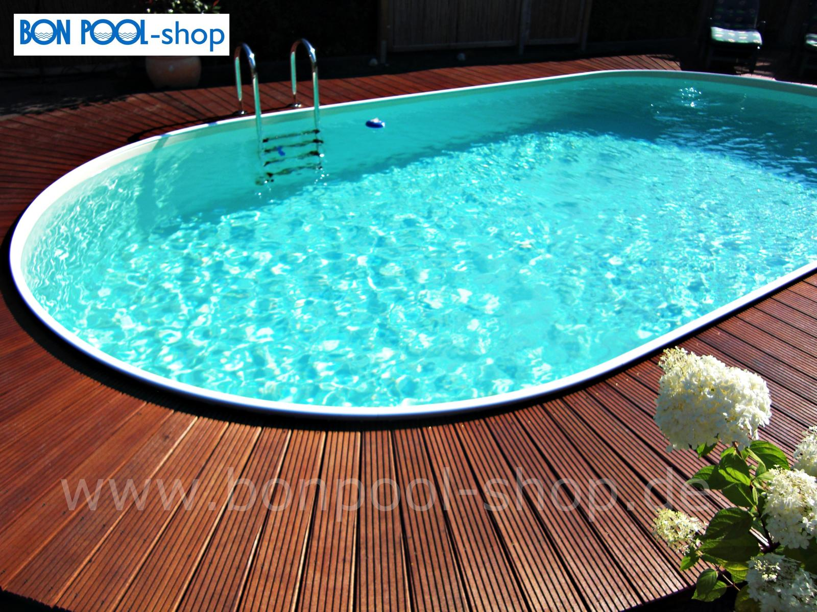 ovalbecken set 916 x 460 tiefe 150 bon pool