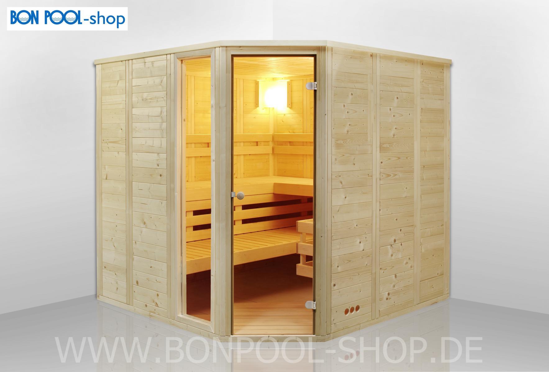 sauna topan komplett set fronteinstieg bon pool. Black Bedroom Furniture Sets. Home Design Ideas