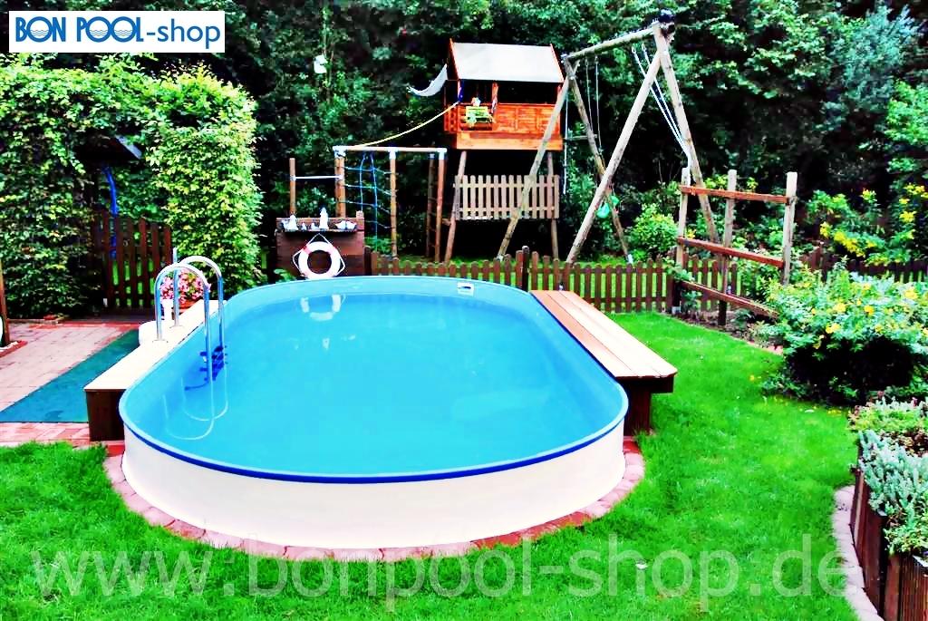 ovalbecken set 737 x 360 tiefe 120 bon pool. Black Bedroom Furniture Sets. Home Design Ideas