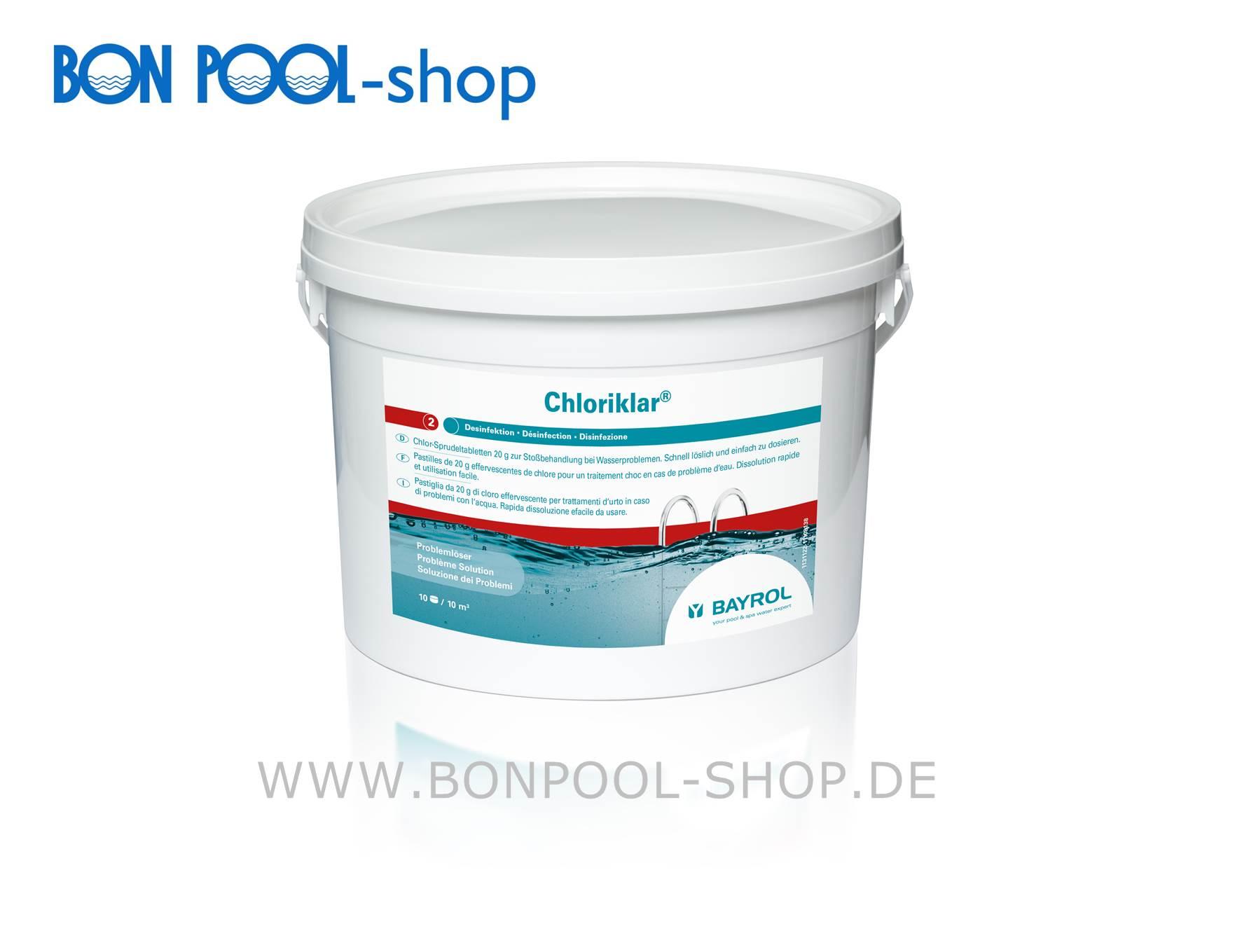 Chlor Schwimmbad Granulat Chloriklar 3kg Bon Pool