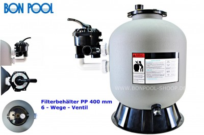 Filterbehälter HDPE 400 mm BON POOL®