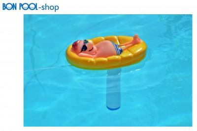 Wasserthermometer Mann in Pool Schwimmbad BON POOL
