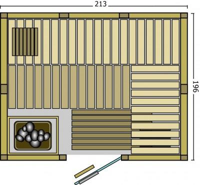BON POOL Safir Sauna-Set Fronteinstieg
