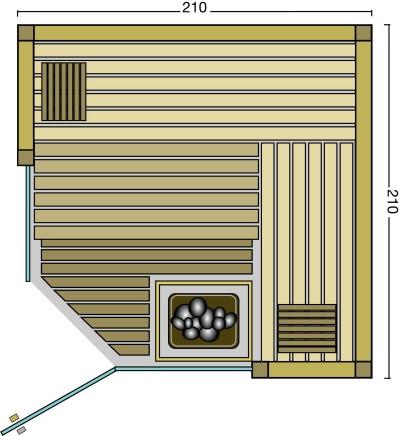 BON POOL Linea Design Sauna Eckeinstieg