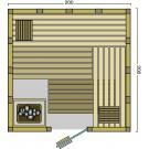 BON POOL  Classico Sauna-Set