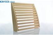 Sauna Rückenlehne aus Abachiholz verstellbar BON POOL