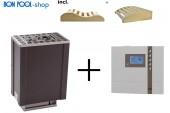 Saunaofen Filius 4,5 kW + ECON D2 Finnisch Set incl. 2 Kopfkeile BON POOL