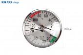 BON POOL Klimamesser verchromt Sauna Infrarot 135mm