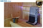 2er SET Saunatuch anthrazit 80x200cm Handtuch Sauna BON POOL