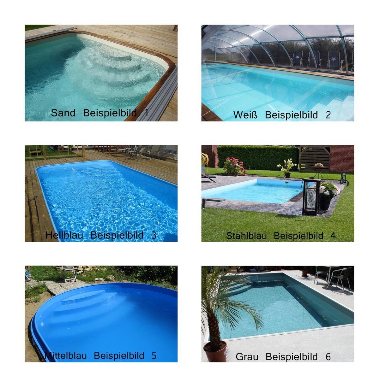Bon Pool Infinity Pool Set Grau 800x330 Tiefe 150