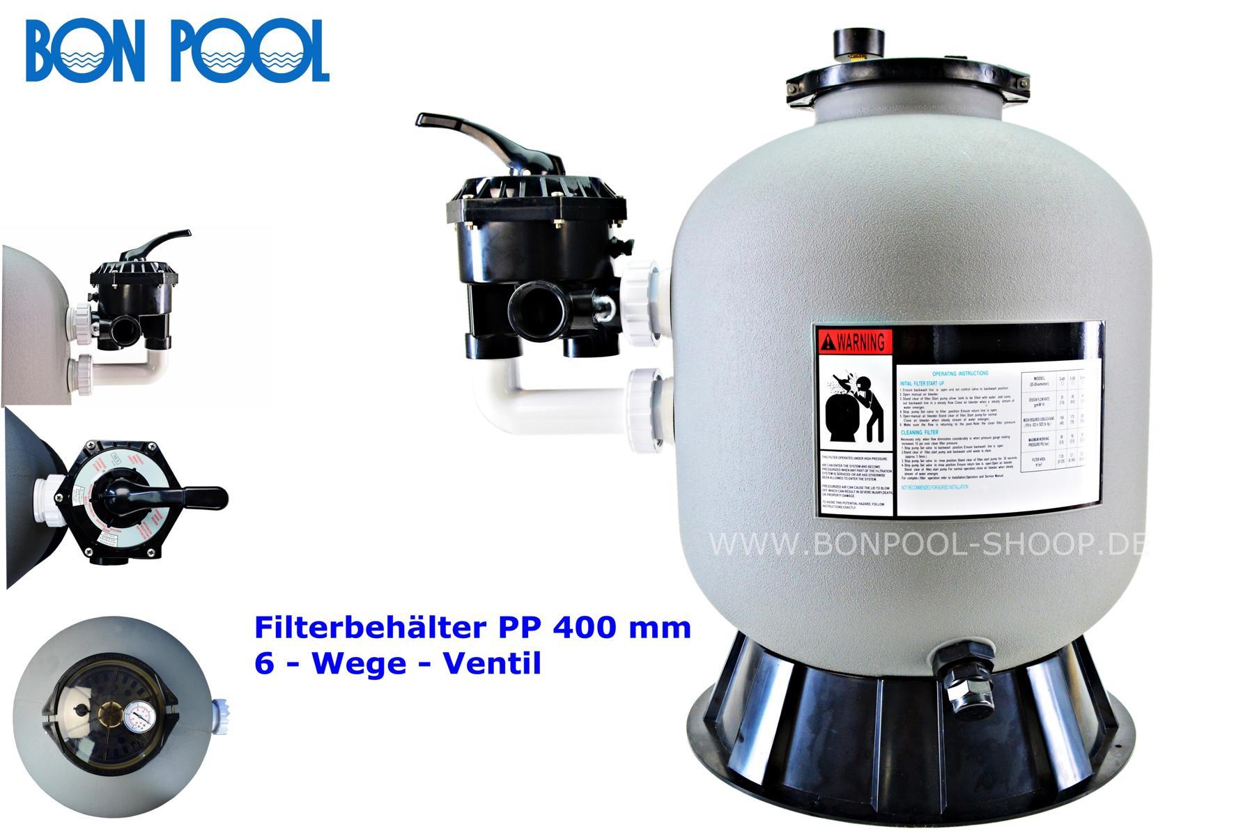 filterbeh lter hdpe 500 mmbon pool. Black Bedroom Furniture Sets. Home Design Ideas