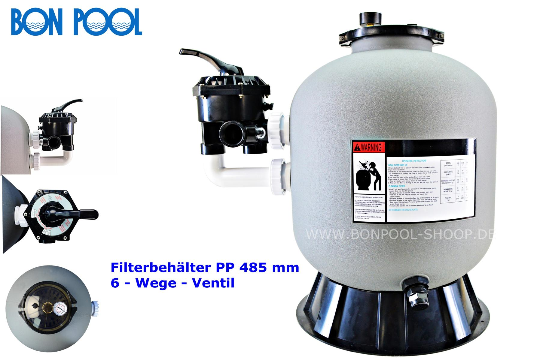 bon pool filterbeh lter gfk 500 mm. Black Bedroom Furniture Sets. Home Design Ideas