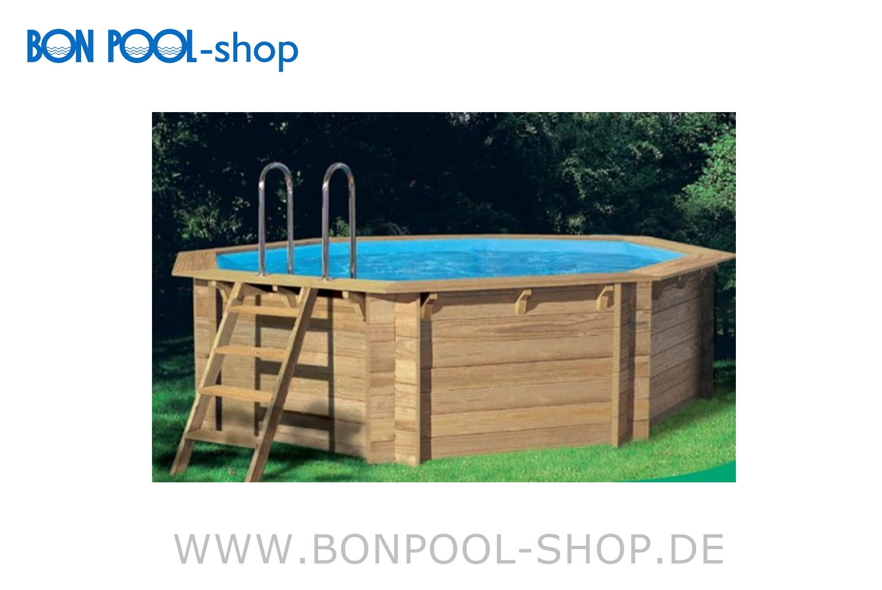 Holzpool tropic octo 414 komplett set bon pool for Piscine tropic octo 414