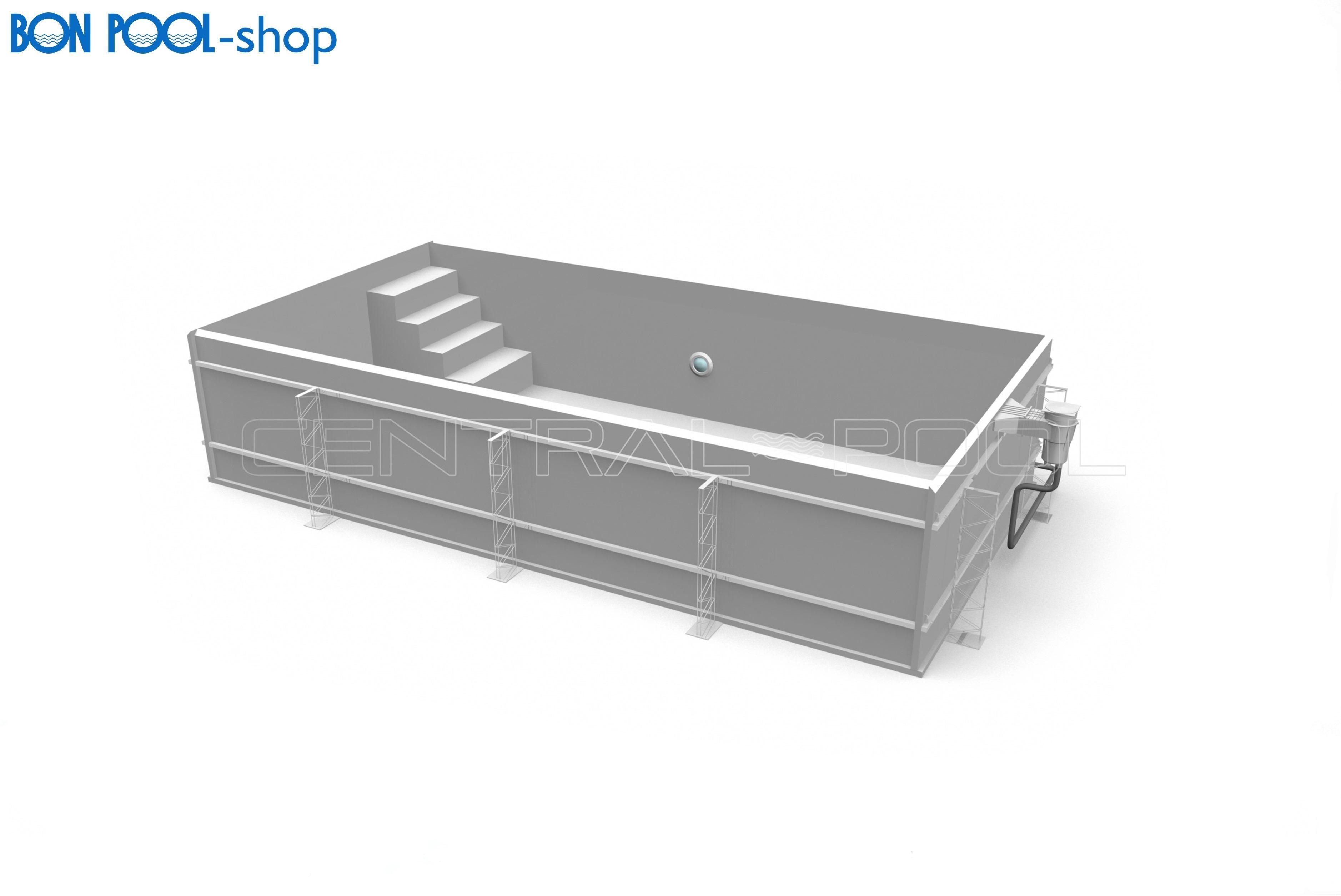 skimmer pool pp schale bon pool. Black Bedroom Furniture Sets. Home Design Ideas