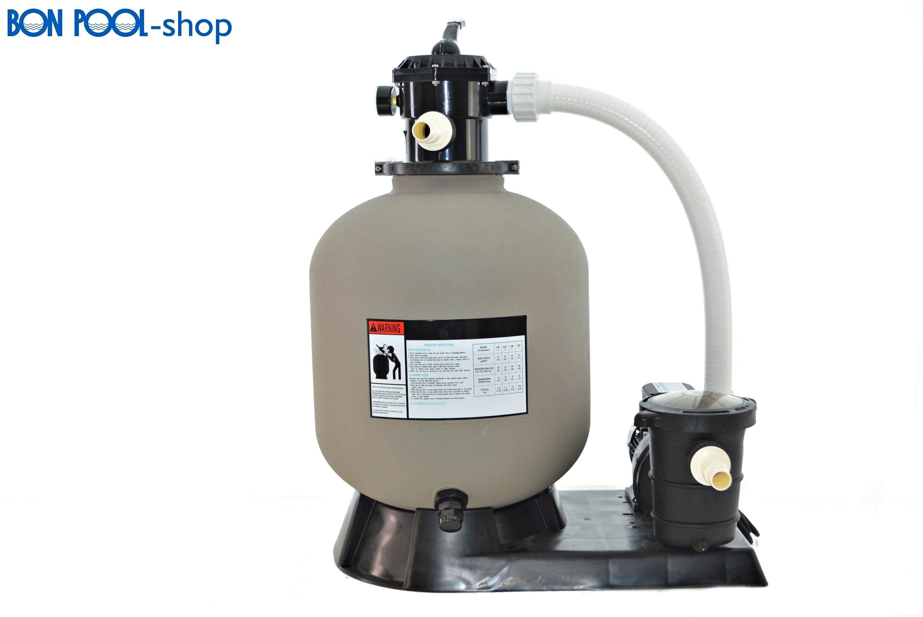 Sandfilteranlage mit filter mit pumpe bis 40m pool - Poolpumpe mit filter ...