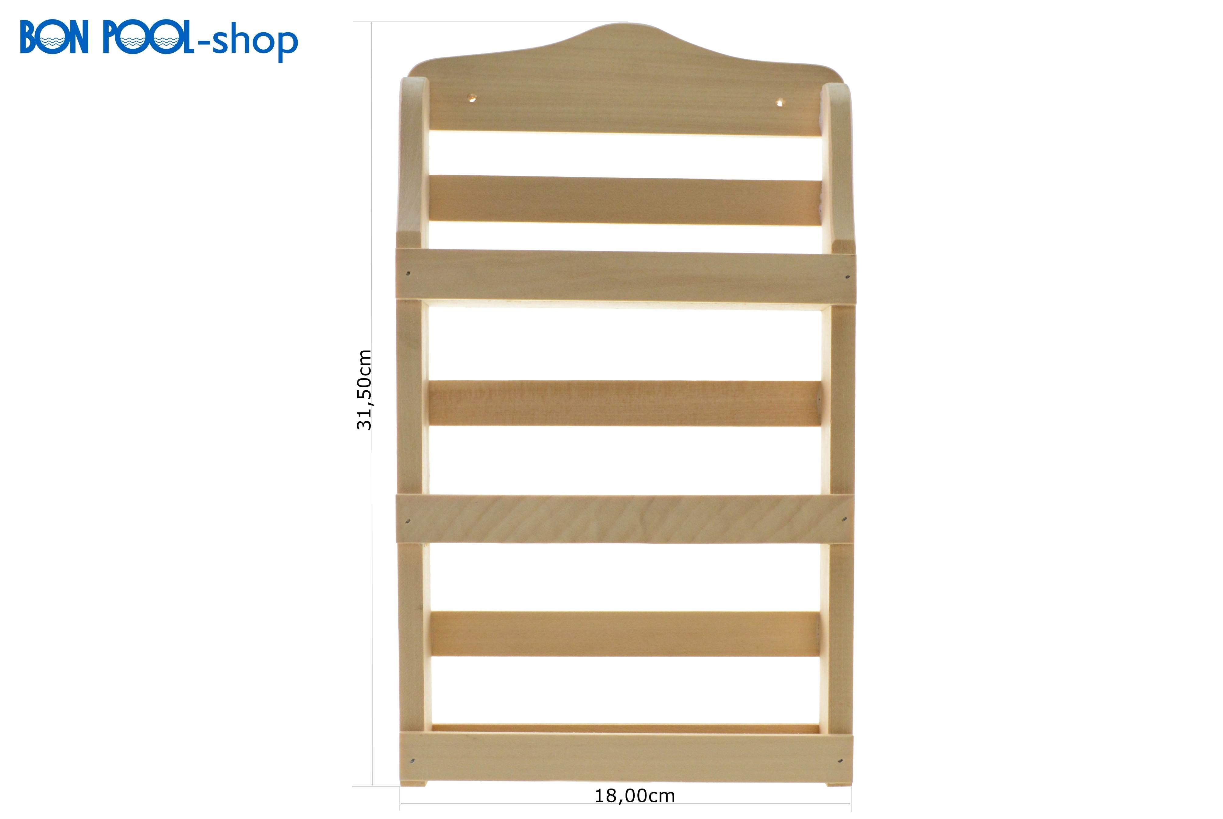 saunaduft ablage 3 f cher wandregal sauna bon pool. Black Bedroom Furniture Sets. Home Design Ideas