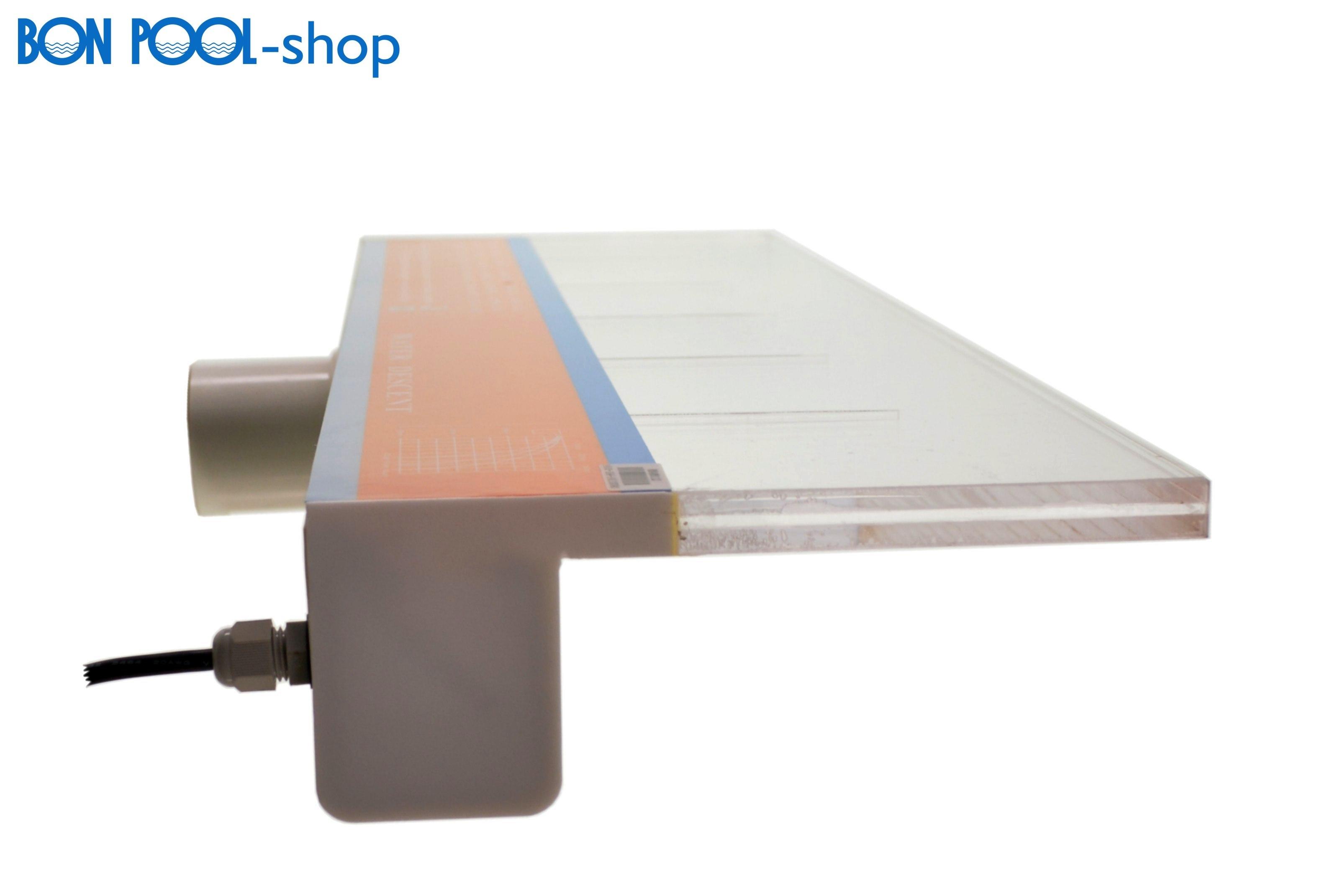 schwalldusche wasserfall led beleuchtung 600 x 150 mm 8 w. Black Bedroom Furniture Sets. Home Design Ideas