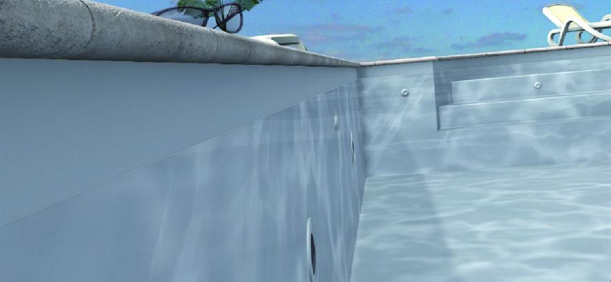 Odyssea rechteckbecken 6x3 holz folie grau bon pool for Pool graue folie