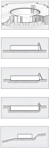 bon pool rundbecken set 400 tiefe 120 aufstellbecken ebay. Black Bedroom Furniture Sets. Home Design Ideas
